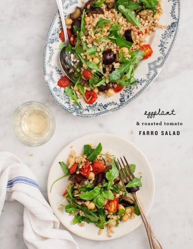 Eggplant & Roasted Tomato Farro Salad / loveandlemons.com