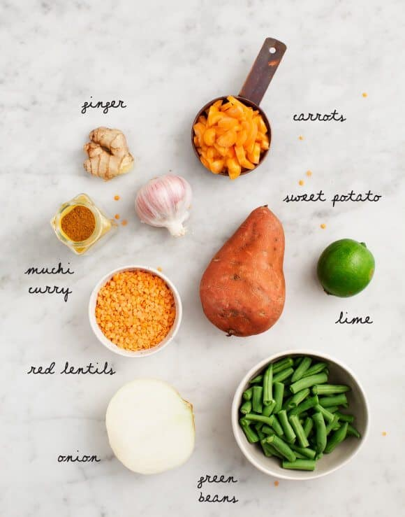 Curried Red Lentil Sweet Potato Stew / loveandlemons.com