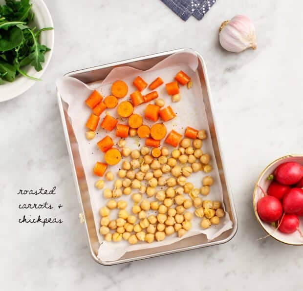 Tahini Noodle Salad with Roasted Carrots & Chickpeas