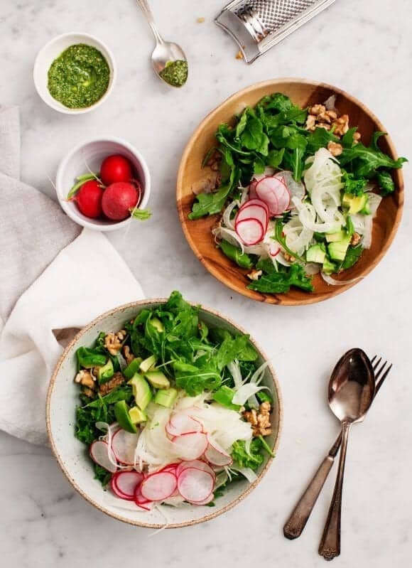 Fennel Salad with Walnuts & Avocado