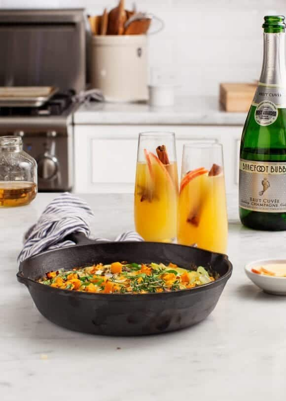 Apple Mimosas & Butternut Baked Eggs