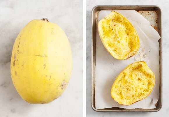 How to make Lemon Pesto Spaghetti Squash