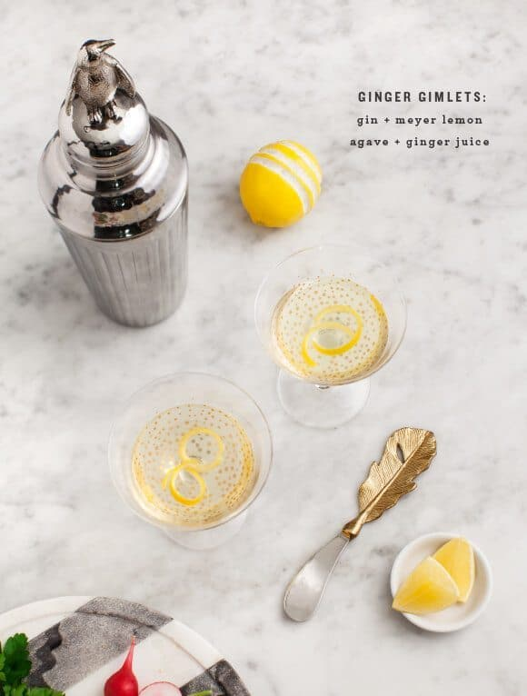 Lemon Ginger Gimlets