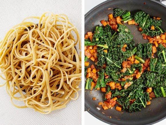 Carrot & Tomato Tagliatelle