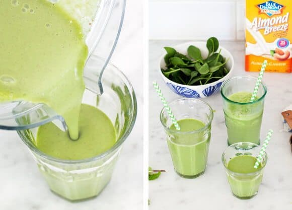 Best green smoothie recipe with spinach and almond milk