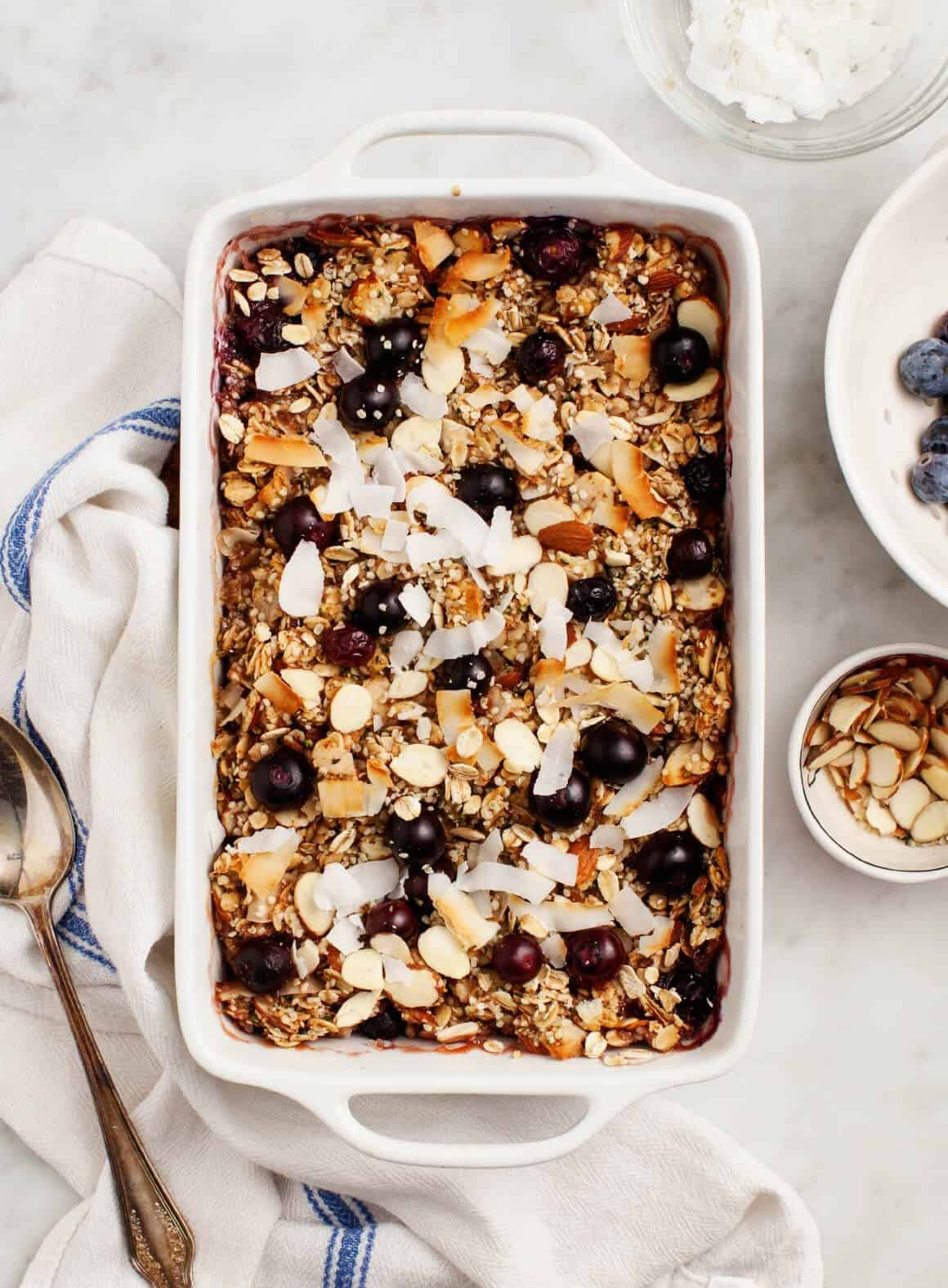 Baked Oatmeal with Blueberries Recipe - Love and Lemons