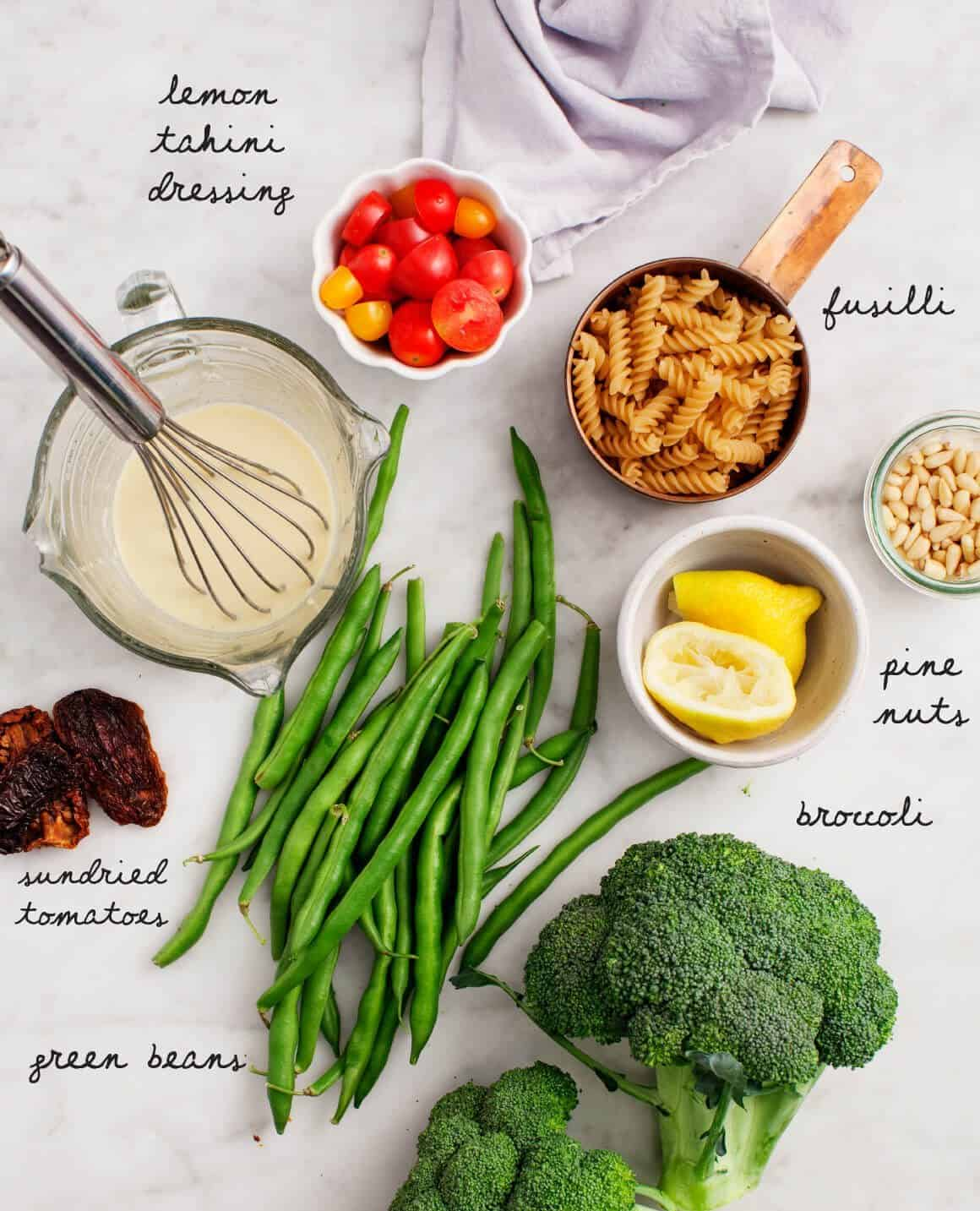 Broccoli Pasta Salad Recipe ingredients
