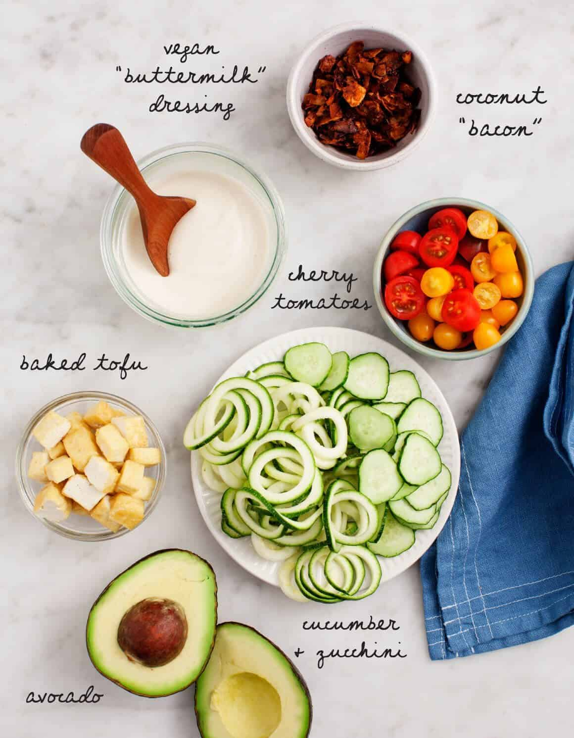 "Vegan Cobb Salad with Coconut ""Bacon"""