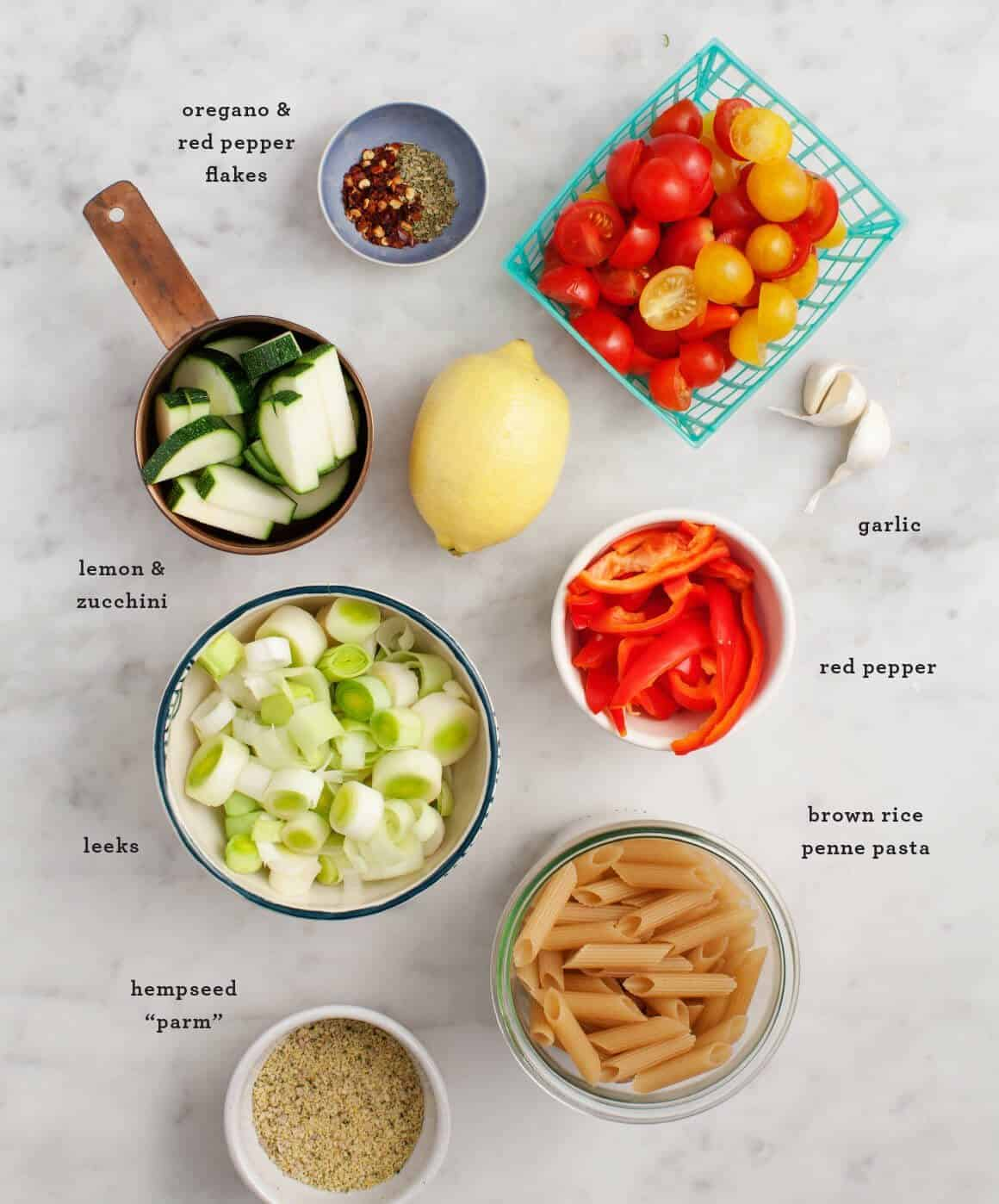 Vegetable Penne Pasta Recipe ingredients