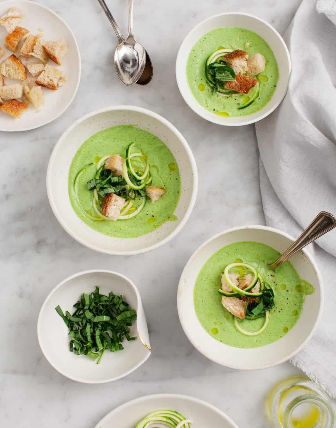 Basil zucchini soup