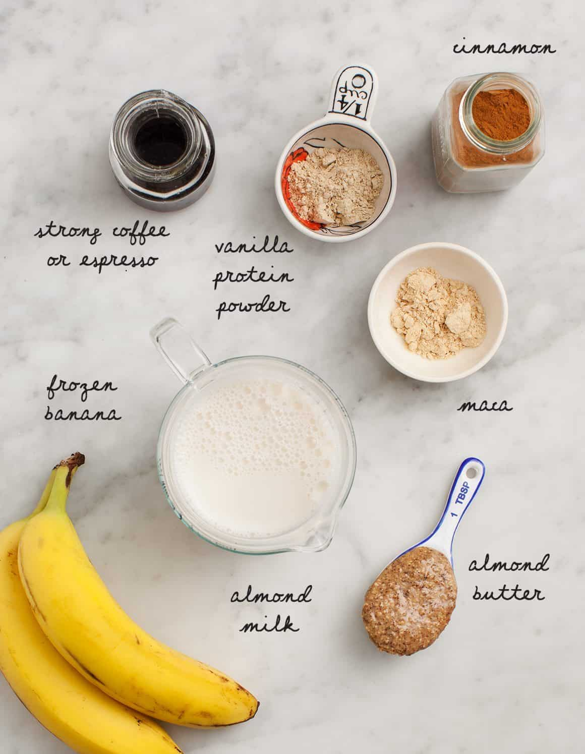 Cinnamon Coffee Smoothie Ingredients