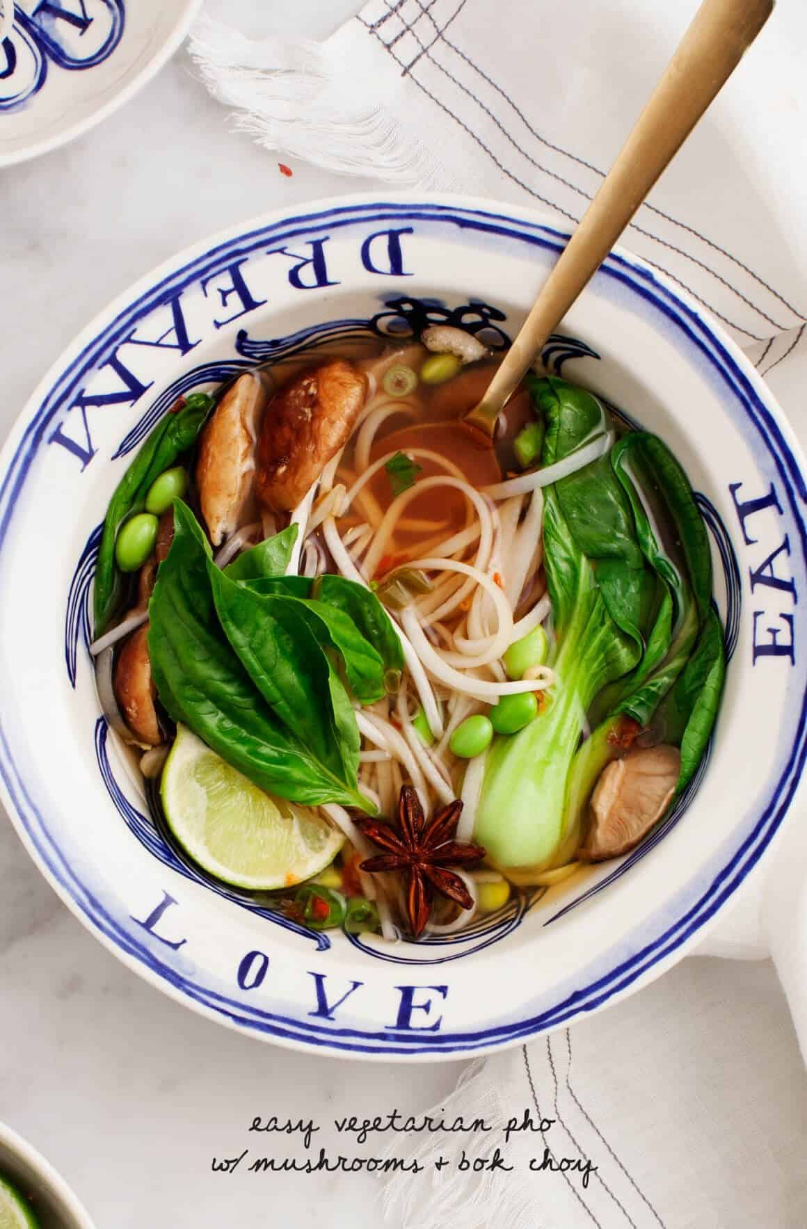 Top Recipes of 2016 - Easy Vegetarian Pho