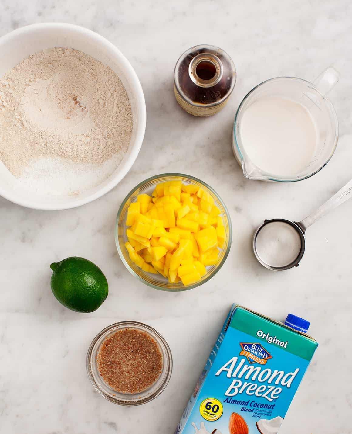 Mango Coconut Muffin ingredients