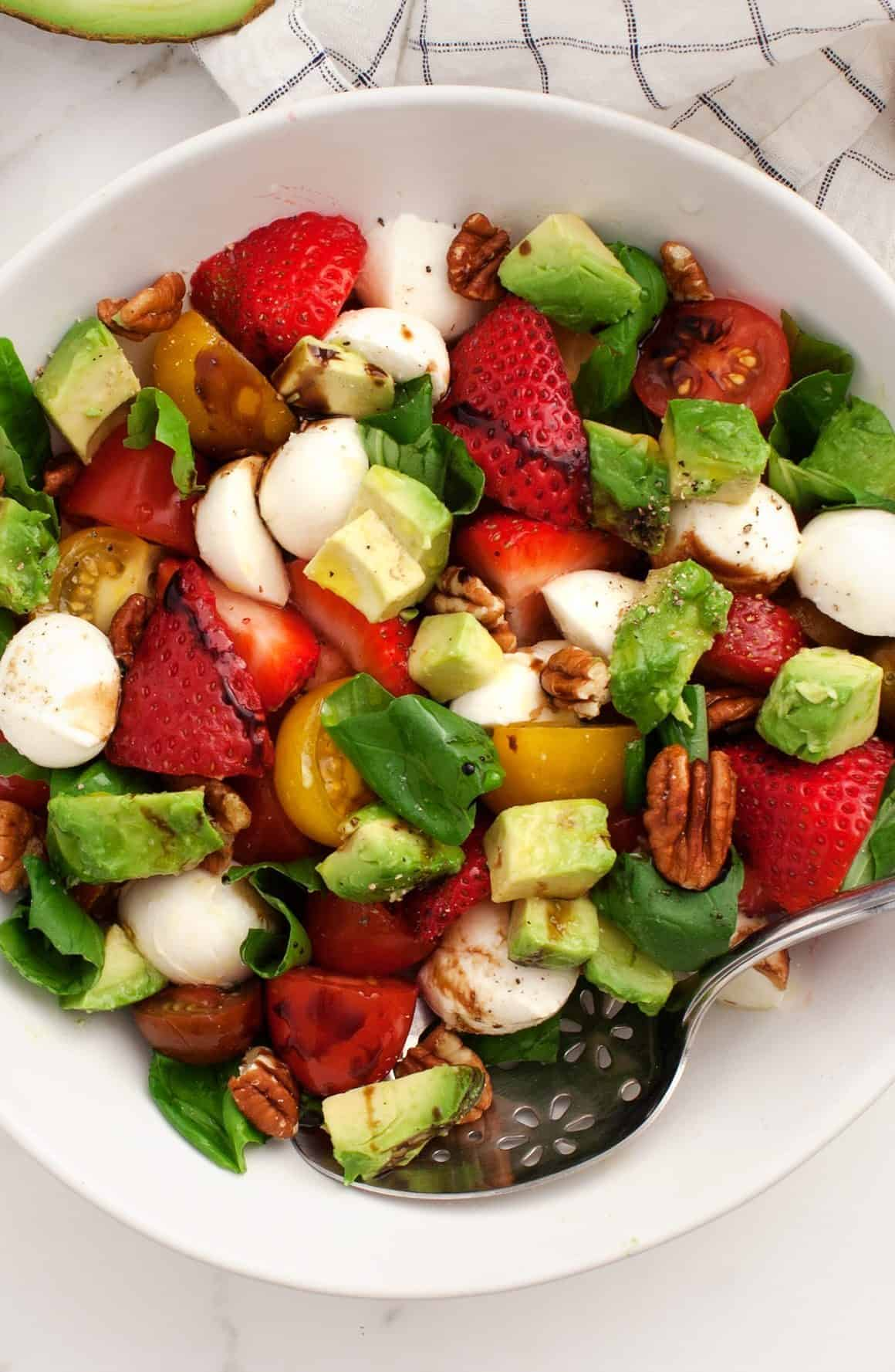 Strawberry Salad with Balsamic and Basil