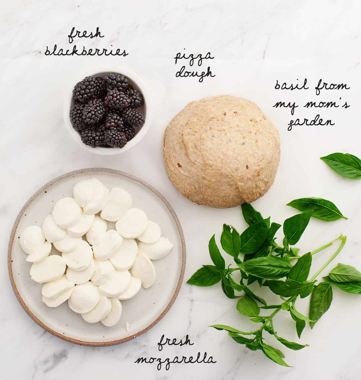 Basil Pizza recipe ingredients