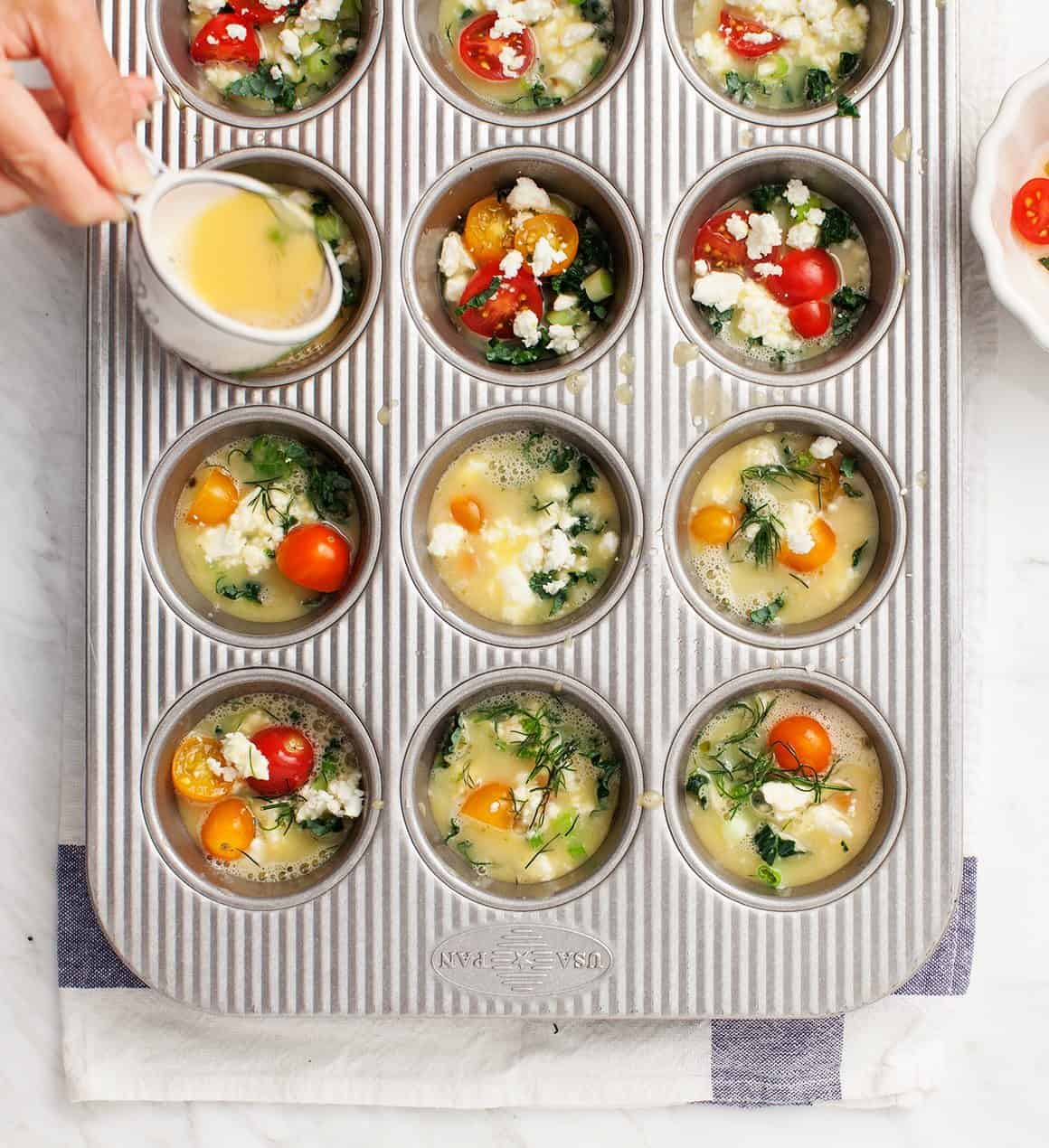 Mini Tomato Frittatas with Dill