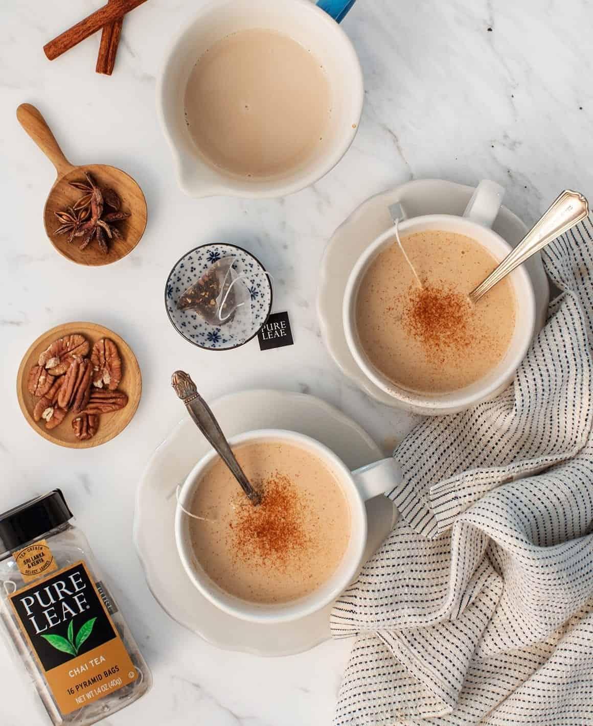 香草核桃牛奶茶拿铁