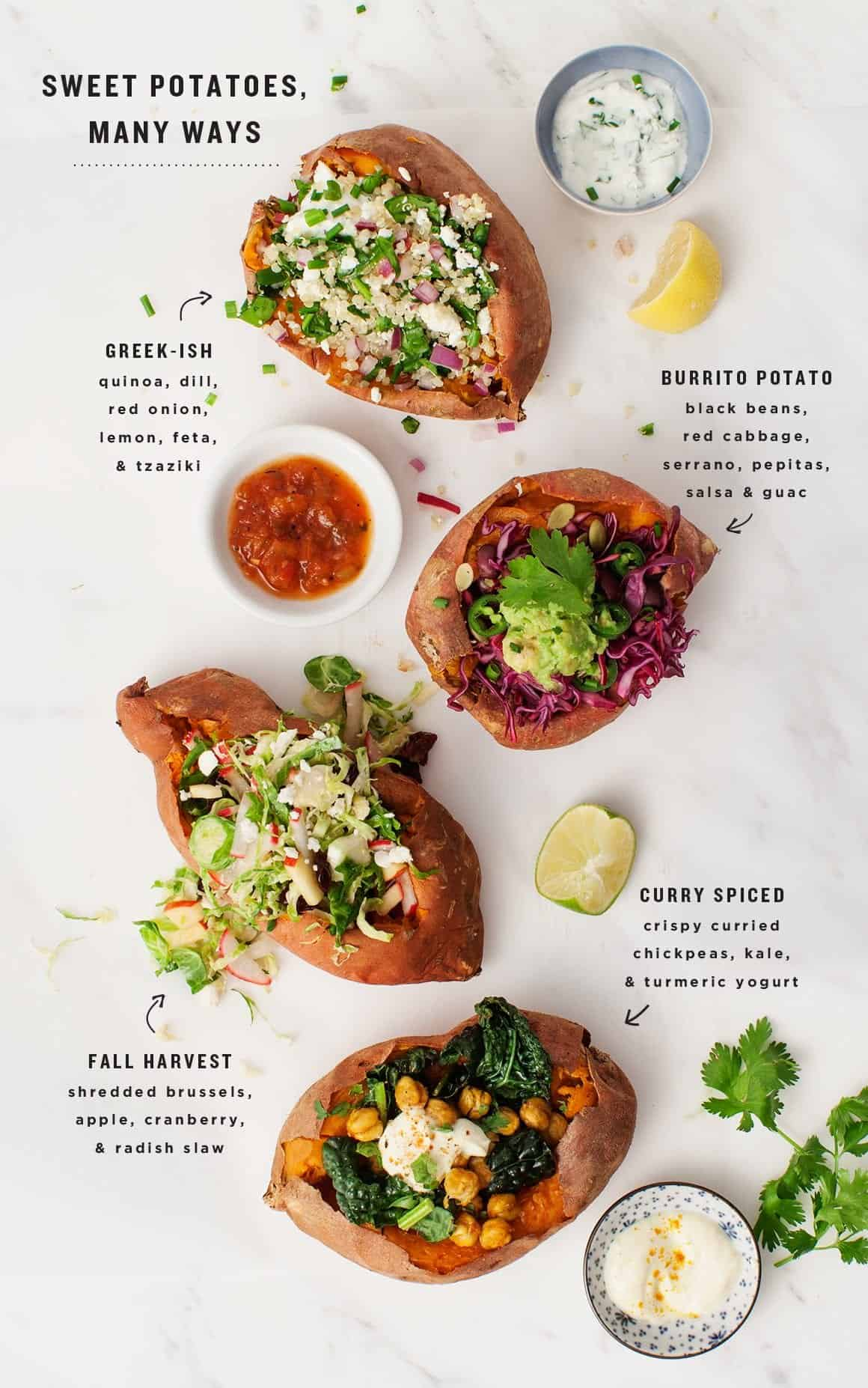 Stuffed Sweet Potatoes Recipe Love And Lemons