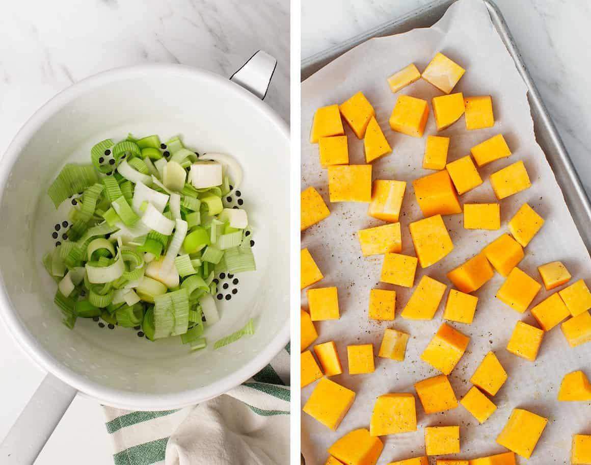 冬南瓜和韭菜馅