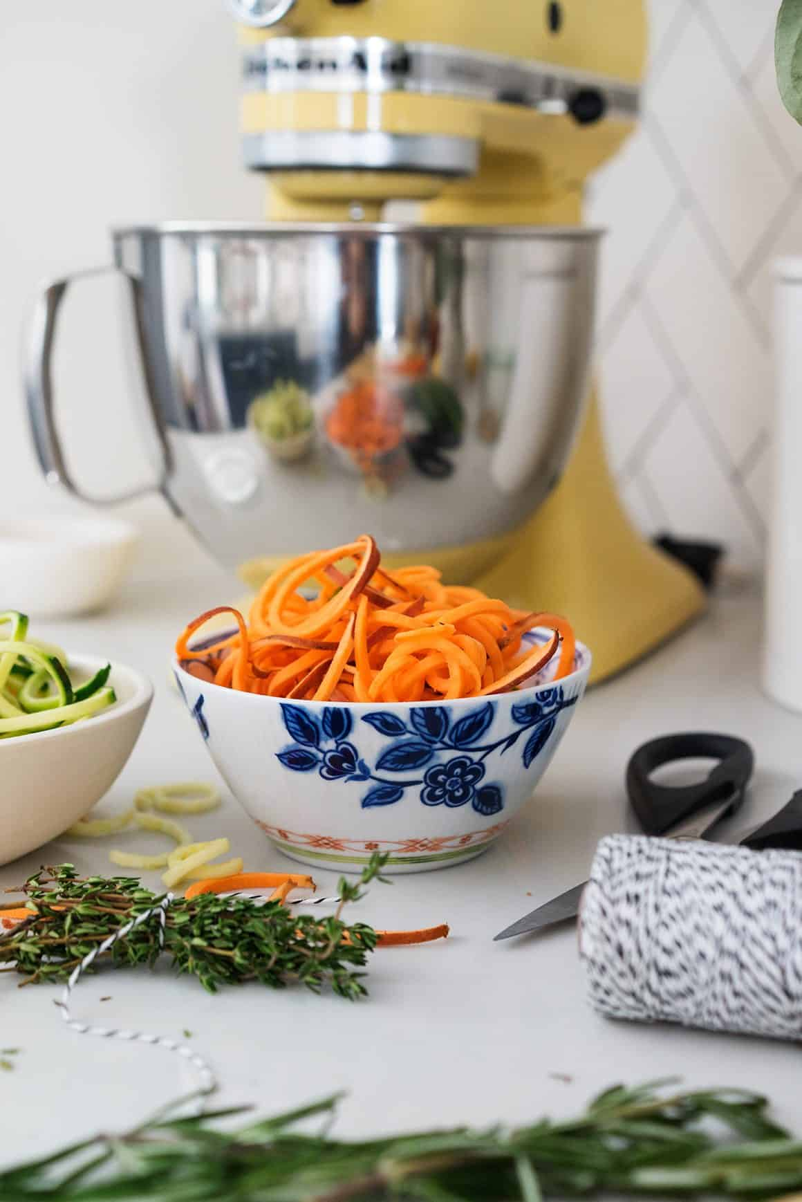 Spiralized Zucchini Vegetable Noodle Soup