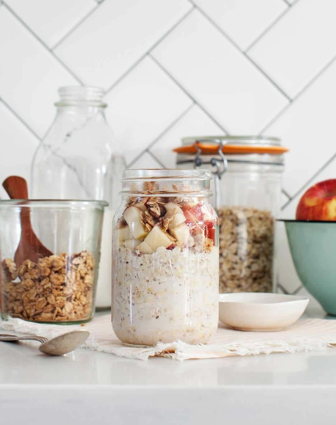 Apple Cinnamon Crunch Overnight Oats