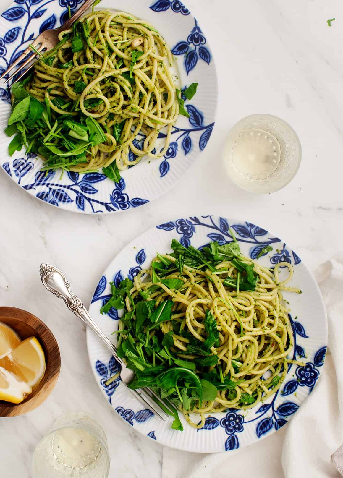 Pesto Pasta with Arugula