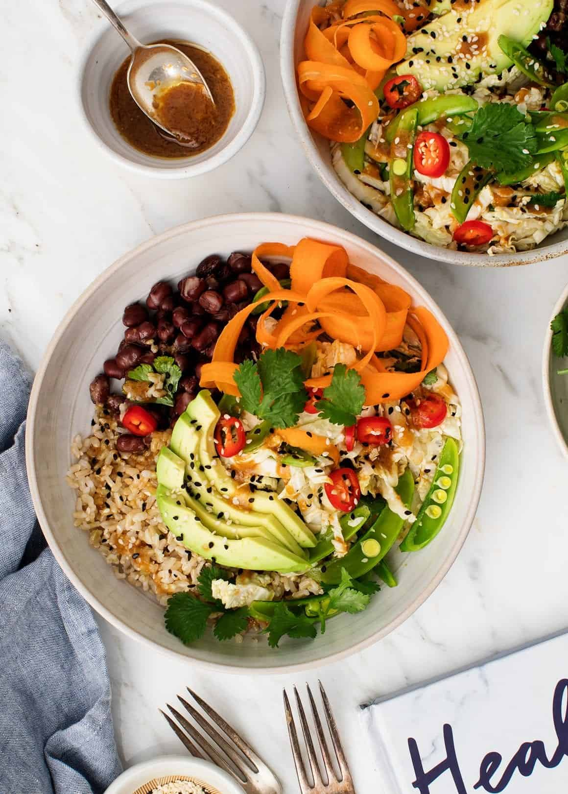 Brown Rice and Adzuki Bean Bowls