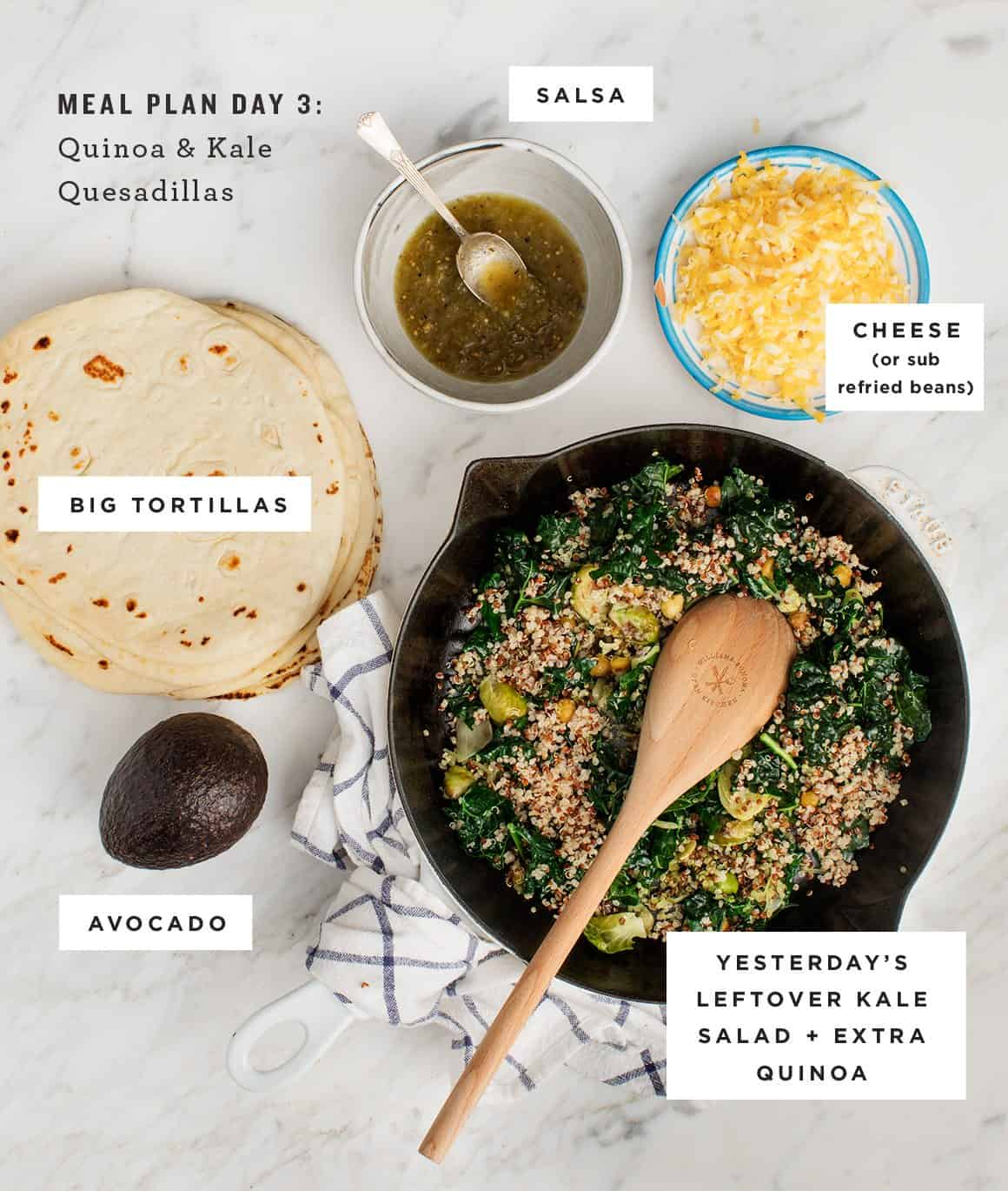 Quinoa & Kale Quesadillas