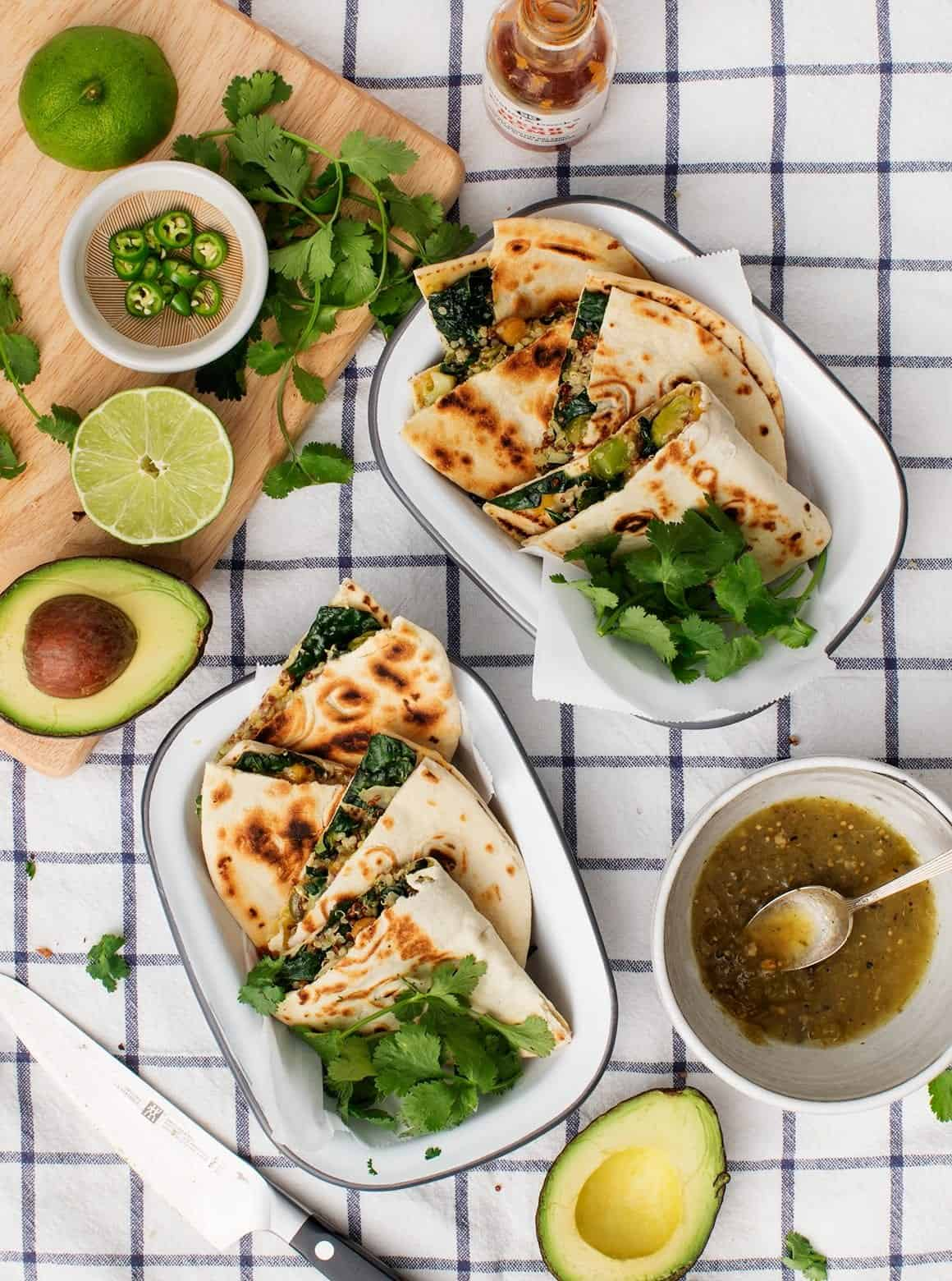 Quinoa & Kale Veggie Quesadillas