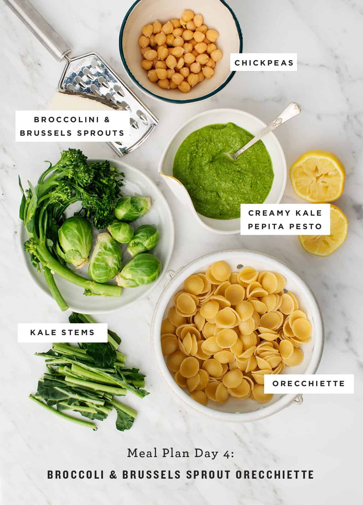 Meal Plan Day 4: Broccoli & Brussels Sprout Orecchiette