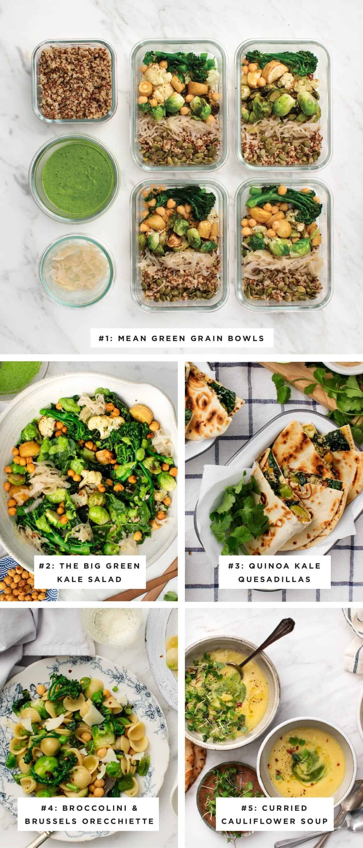 5-Day Meal Plan Recap
