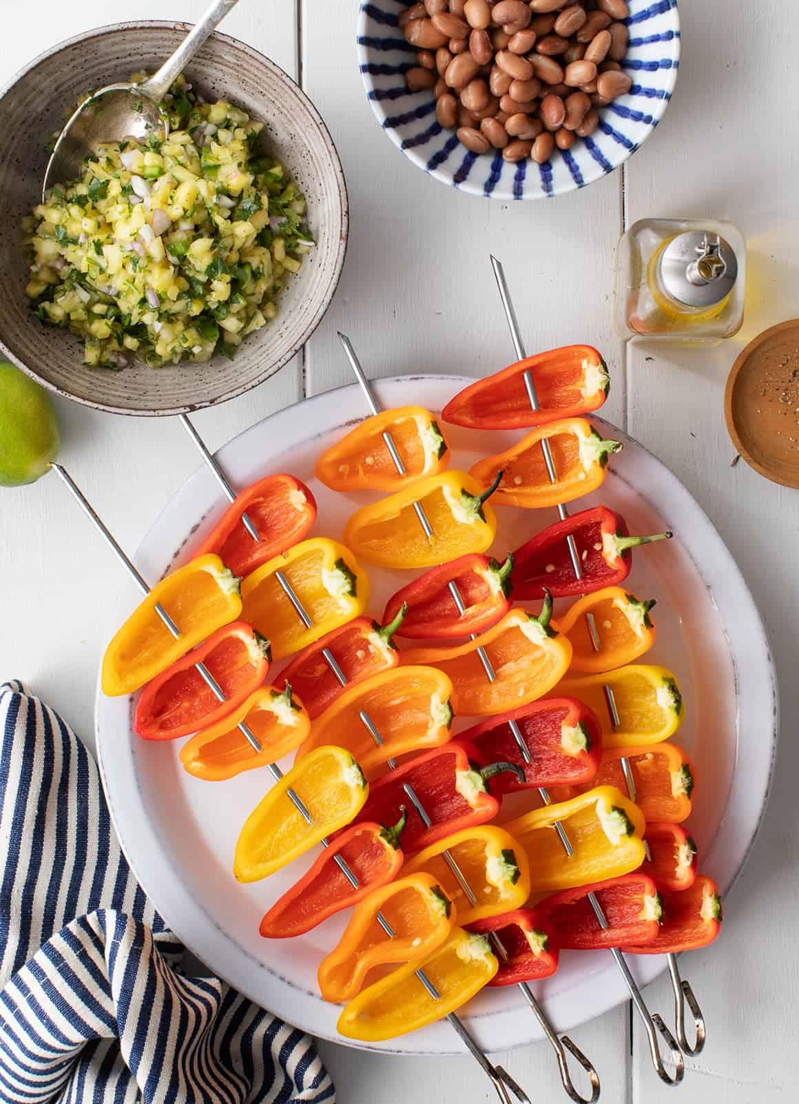Healthy seasonal whole food recipes blog love and lemons mini stuffed peppers with pineapple salsa forumfinder Image collections