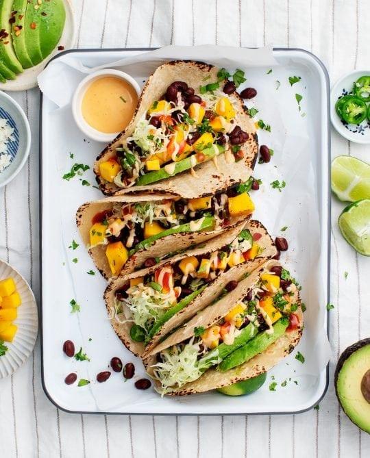Meal Plan Day 3: Spicy Mango, Black Bean & Avocado Tacos