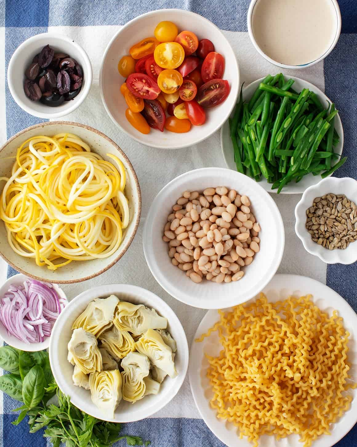Vegan pasta salad recipe ingredients