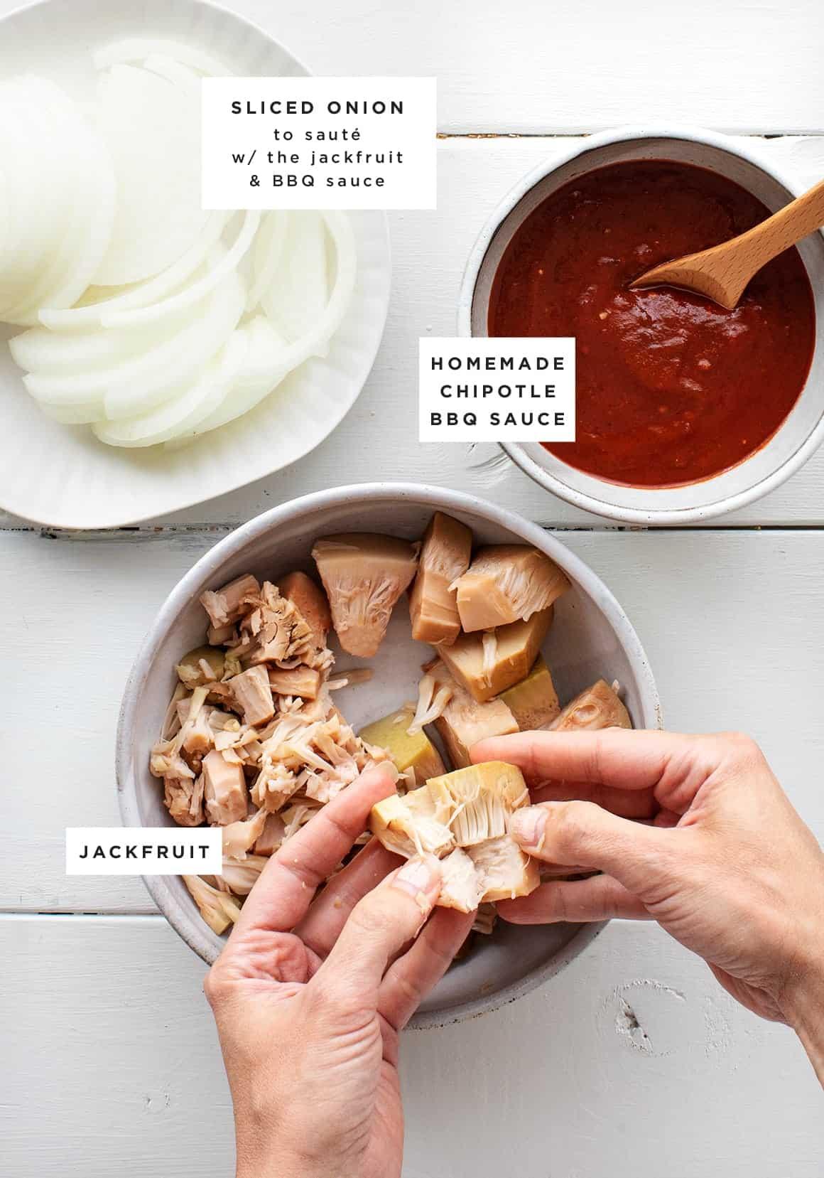 BBQ Jackfruit Sandwiches (vegan!)