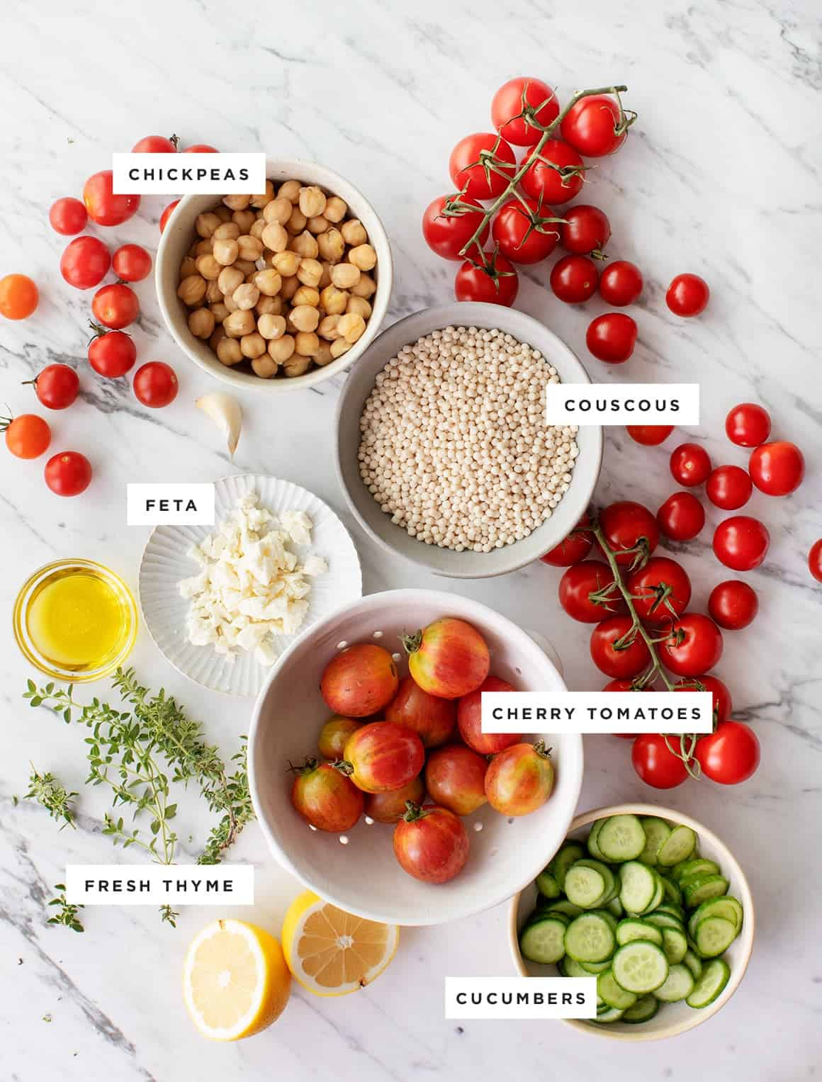Healthy seasonal whole food recipes blog love and lemons roasted cherry tomato thyme couscous salad forumfinder Images