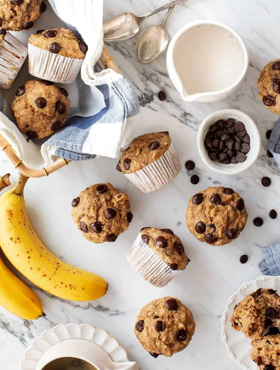 Healthy Banana Muffins Recipe Love And Lemons