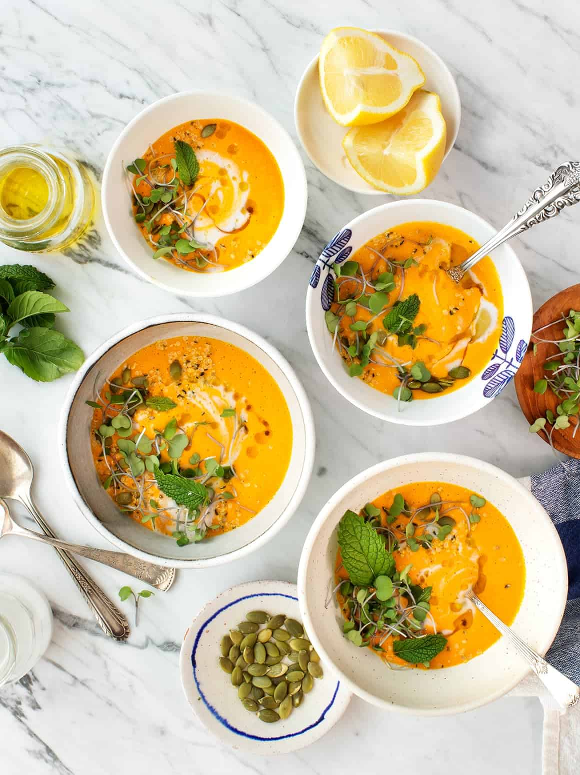 Carrot Coconut Gazpacho with Lemongrass