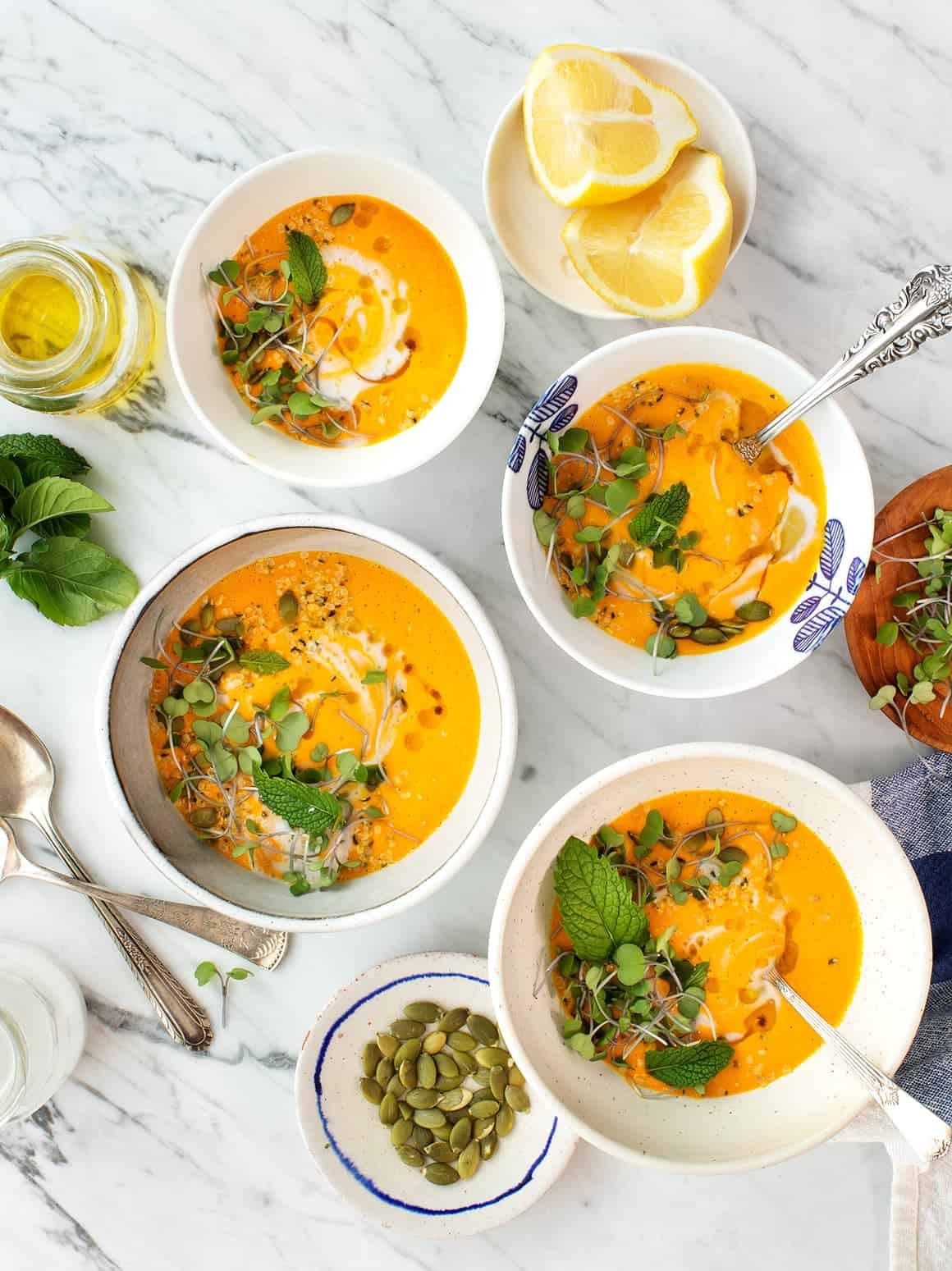 胡萝卜和柠檬草椰西班牙凉菜汤徳赢vwin捕鱼游戏