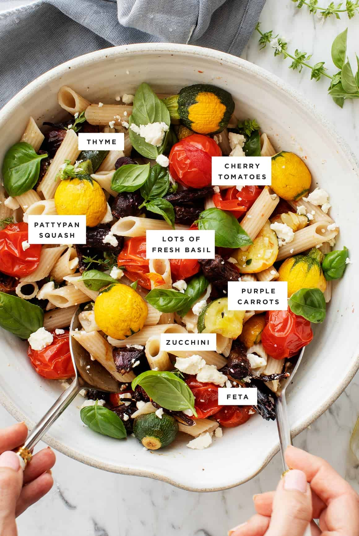 Many-Veggie Roasted Vegetable Pasta