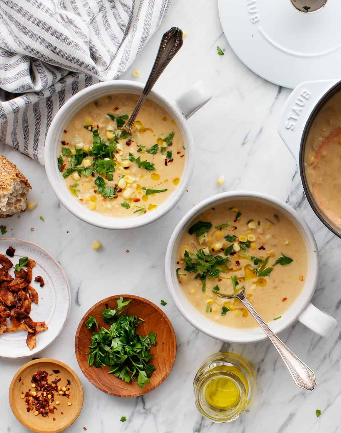 Yellow Split Pea Corn Chowder with Sweet Corn