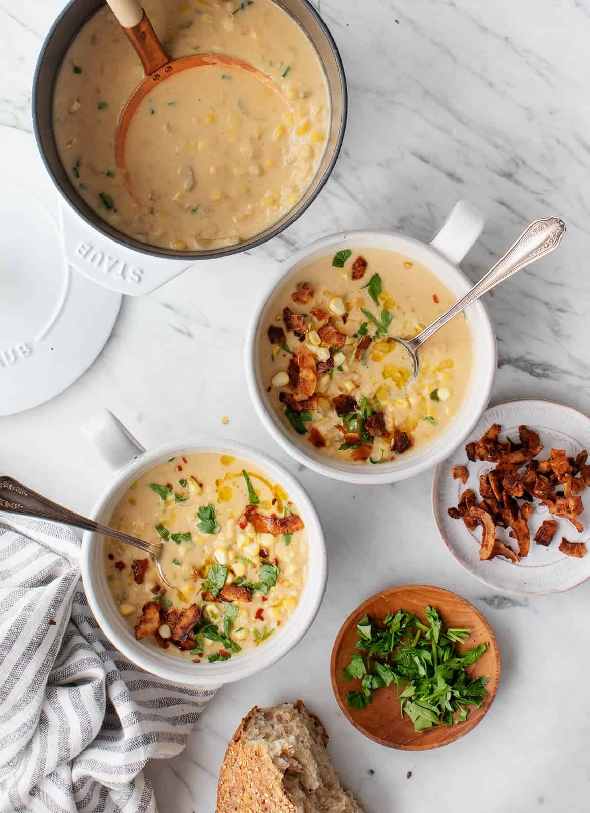 Yellow Split Pea and Corn Chowder from Love and Lemons on foodiecrush.com