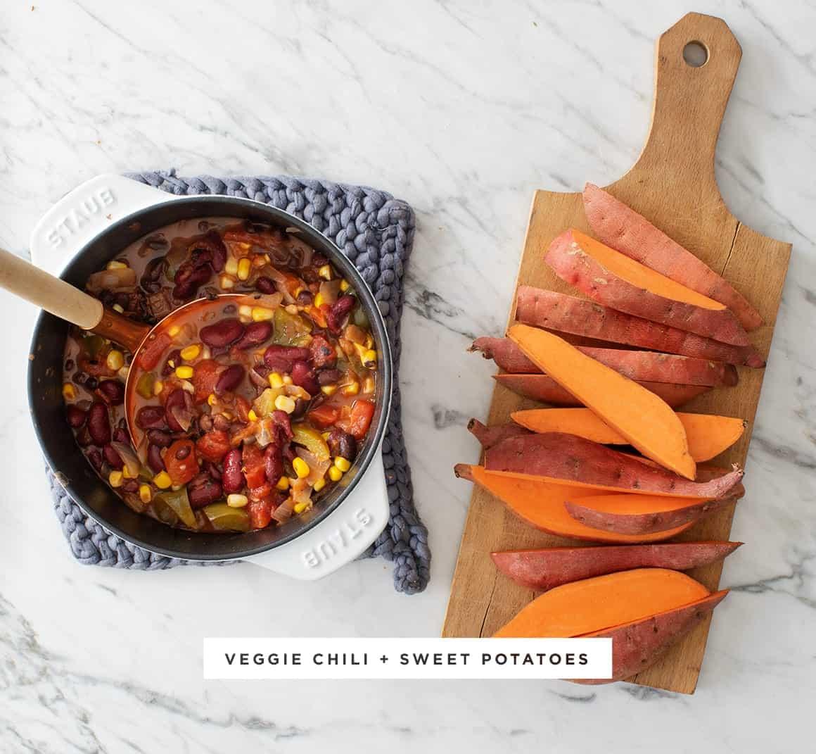Sweet Potato Chili Fries Recipe Love And Lemons