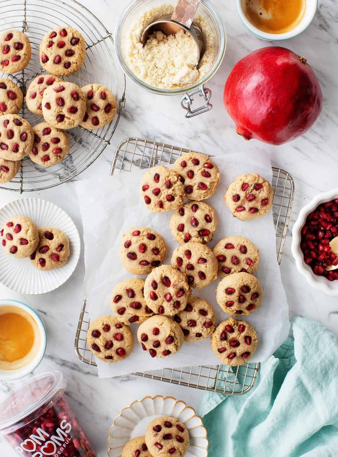 Tahini & Pomegranate Almond Cookies