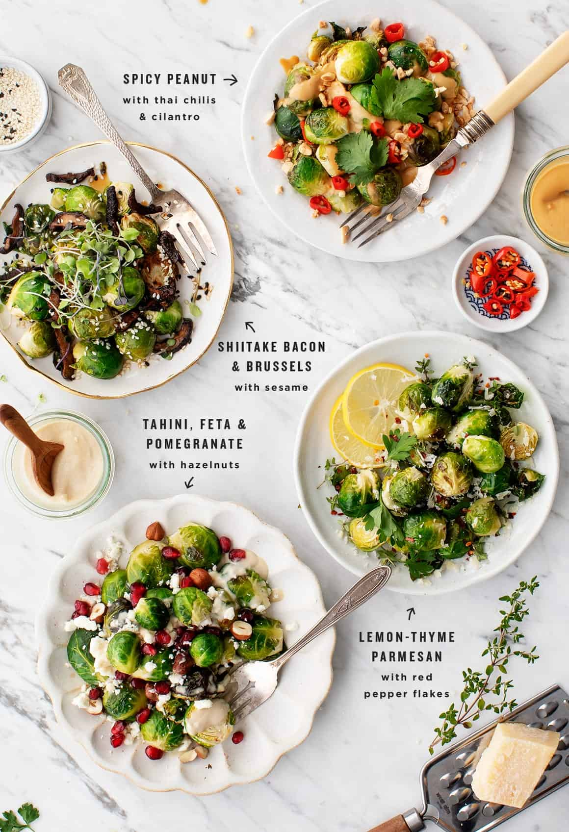 Roasted Brussels Sprouts Many Ways Recipe Love And Lemons