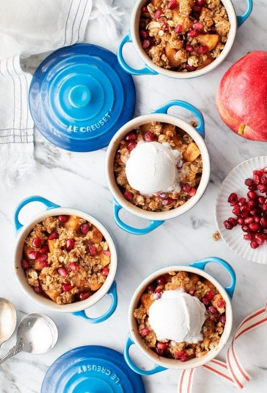Spiced Apple Crisp with Pomegranates