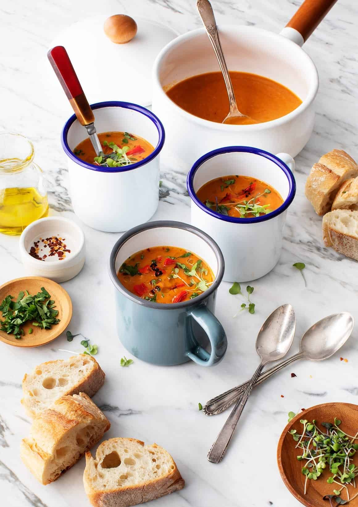 Carrot & Roasted Red Pepper Soup