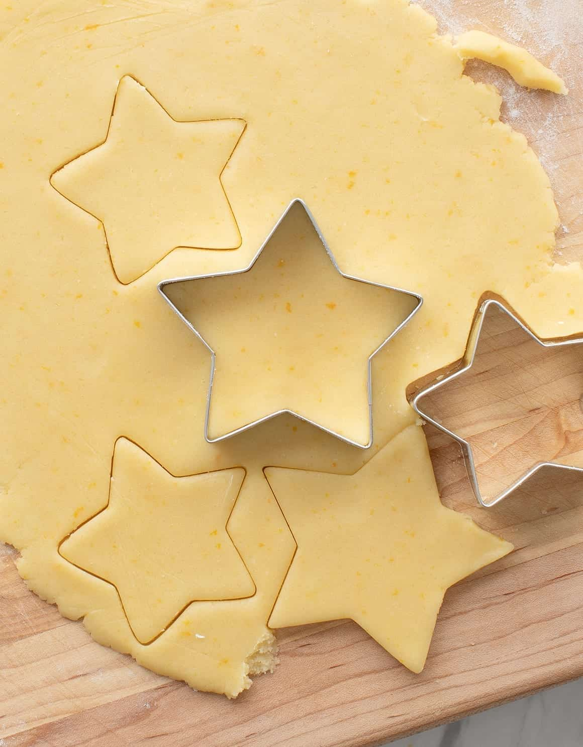 Orange Zest Shortbread Cookies