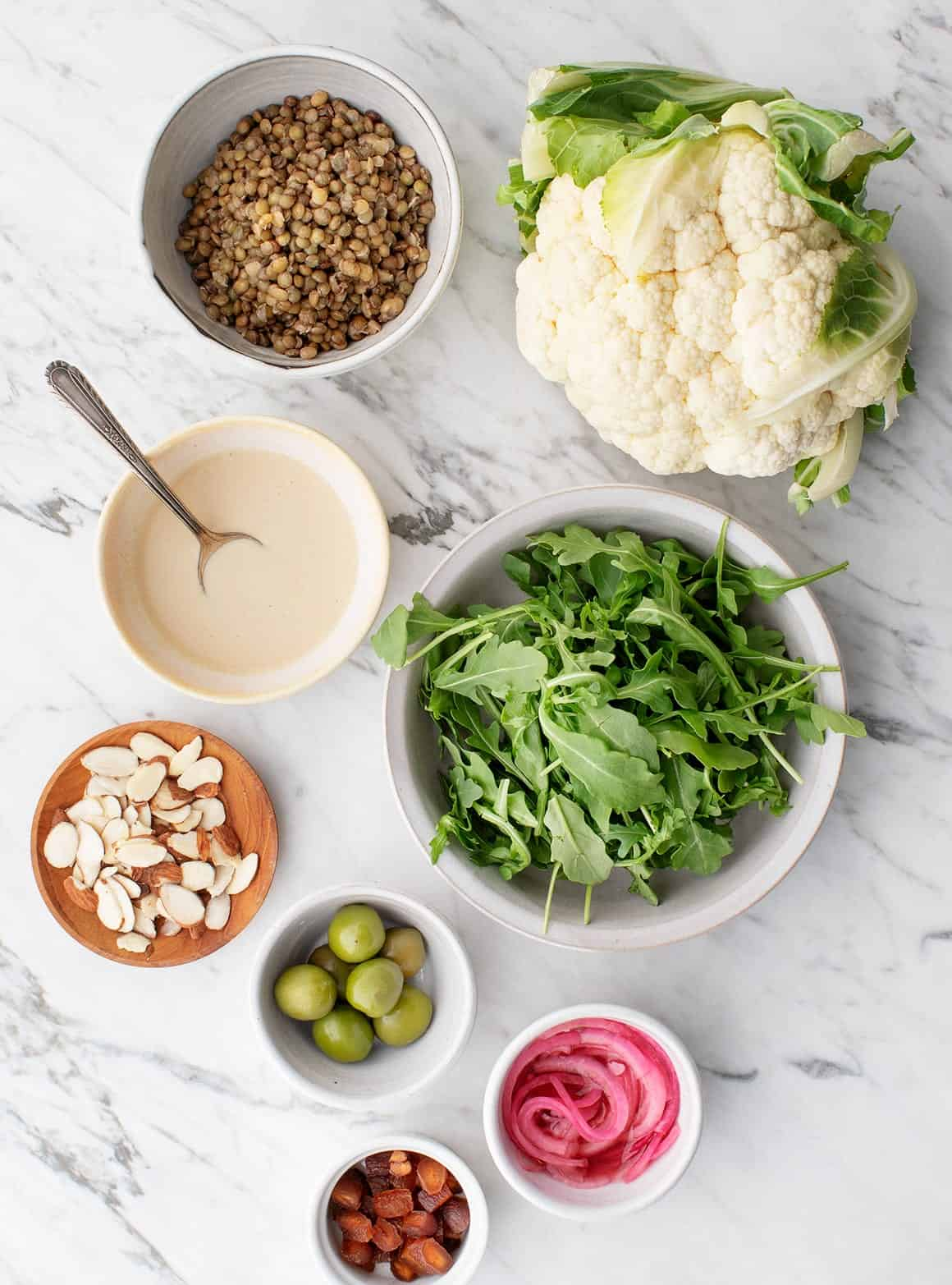 Roasted Cauliflower, Tahini & Lentil Salad