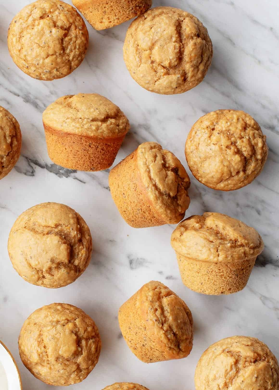 Vegan Meyer Lemon Muffins with chia seeds